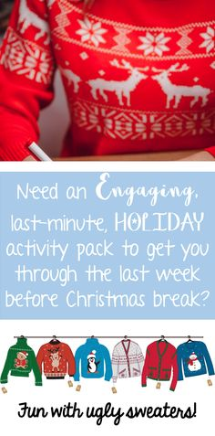 A No-Prep, Christmas activity pack perfect for the intermediate classroom!