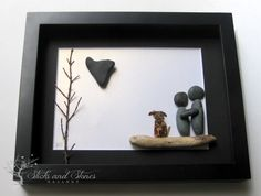 Personalized Pebble Art  Beach Stone Couple With by SticksnStone, $85.00