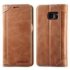 Coque Galaxy S7, Lensun Housse étui Cuir Portefeuille avec Horizontale Rangements de Cartes et Fermeture Aimanté, pour Samsung Galaxy S7…