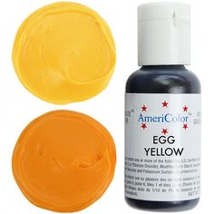 Egg Yellow Gel Paste Food Coloring from Layer Cake Shop!  Superior coloring strength, allowing you to easily achieve deep vibrant color! Perfect for coloring all kinds of doughs, batters, icings, frostings, delicate whipped toppings, fondant, gum paste, marzipan and more!