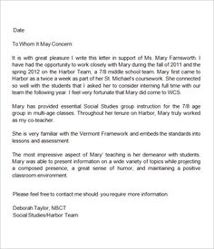 Student teacher recommendation letter examples letter of 13 letters of recommendation for teacher sample templates negle Images
