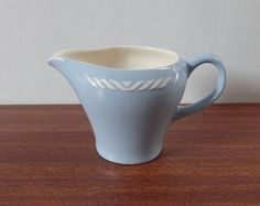 Vintage Blue White Figgjo Flint Sissel Small by Hersnhiswarehouse, Ragnar, Milk Jug, Cups, Blue And White, China, Glass, Kitchen, Beautiful, Vintage