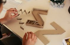 Make Your Own Marquee Letter Diy Marquee Letters, Light Letters, Cardboard Crafts, Paper Crafts, Make Your Own, Make It Yourself, How To Make, Paper Architecture, Letter A Crafts