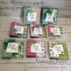 The Craft Spa - Stampin' Up! UK independent demonstrator : Share What You Love cards