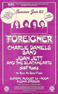 Foreigner live 01 Aug 1982