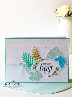 stampin up tropical chic, floral frames