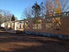 November 16th 2012 - Now we're gettin' somewhere! The new office is starting to take shape. We're hoping to get the trusses in and the roof on as soon as we can.