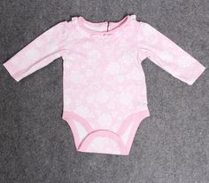 Infant Girls Baby Bodysuits Newborn Cotton Clothes Long Sleeve Size 3M Pink #Unbranded #EverydayHoliday # Special Offer
