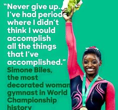 Never ever give I'm up! #SimoneBiles #mondaymotivation