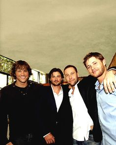 Remembering that Jensen was in Season 4 makes this picture that much better than it just being CW Men!!!