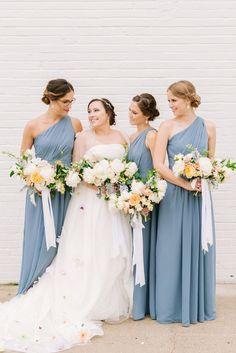 Light Blue Bridesmaid Dresses Bridesmaids Inspiration Peach Weddings