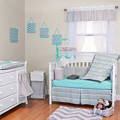 Seashore Waves 5 Piece Baby Crib Bedding Set With Bumper By Trend Lab
