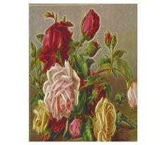 Vintage Flowers Poster at CafePress
