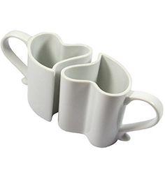 Kemis Kaffeetassen/Teetassen 2er-Set Herz, weiß Kemis Sugar Bowl, Bowl Set, Mugs, Tableware, Trends, Winter, Diamond, Coffee Cups, Decorations