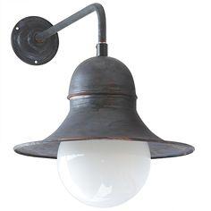Historical Factory Outdoor Sconce Siegen Globe RO 140 by Bolich - Außenleuchten Exterior Wall Light, Outdoor Sconces, Kugel, Globe, Wall Lights, Lighting, Home Decor, Ceiling Medallions, Top Hats
