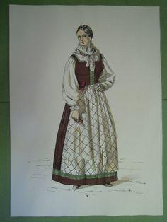 Donna del Friuli. Costumi popolari italiani. 1958 - Gorlich #76 Folk Costume, Costumes, European Dress, Victorian, Traditional, Clothes For Women, History, Dresses, Fashion