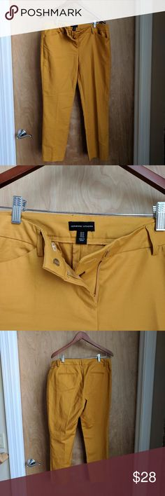 """NWOT 97% Cotton Mustard Ankle Pants sz 10 Perfect for fall, these mustard ankle pants will pair well with chambray, stripes, navy, gray, white & forest green tops  Machine wash 27"""" inseasm Adrienne Vittadini Pants Ankle & Cropped"""