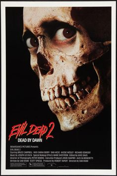 I feel like I'm at the drive-in just thinking about this cult classic.  Crazy hijinks of maddness are a vital ingredient in horror for me.  These types of films reflect what's underneath the smiling gloss of lies sold to us through media. Evil Dead 2 (1987)