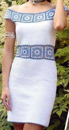 Crotchet Dress, Crochet Blouse, Crochet Lace, Knit Dress, African Fashion Dresses, Apparel Design, Crochet Clothes, Clothing Patterns, Designing Women