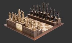 6 Cool Unique Chess Sets That Are Unlike Any You Ve Seen Before Mango Wood Chess Draughts Nk.