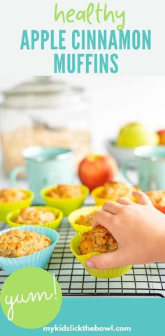 Healthy Easy cinnamon spiced apple muffins, made with applesauce, and oatmeal a dairy free egg free vegan recipe also great for toddlers Rib Recipes, Sausage Recipes, Baby Food Recipes, Food Network Recipes, Vegan Recipes, Potato Recipes, Ramen Recipes, Noodle Recipes, Turkey Recipes
