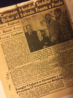 This newspaper belongs to Archie Moore Archie Moore, Newspaper, Pray, Champs, Journaling File System