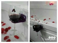 Wine Glass Holder for bathtub! Life just got a whole lot better ♡