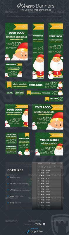 Winter Banners - Winter Specials Banner Set - Banners & Ads Web Template PSD. Download here: http://graphicriver.net/item/winter-banners-winter-specials-banner-set/6430877?s_rank=1441&ref=yinkira