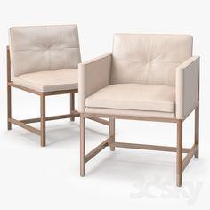 BasssamFellows Wood Frame Side Chair & Armless Side Chair