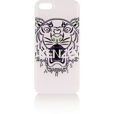 KENZO Tiger printed iPhone 5S cover ($60) ❤ liked on Polyvore featuring accessories, tech accessories, phone cases, phones, cases, electronics, purple and kenzo