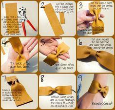 Leather Bow Cuff Bracelet DIY