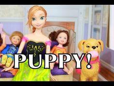 Frozen Anna & Kids name PUPPY Zoe Disney Barbie Doll Toys PLAY-DOH Playdough AllToyCollector