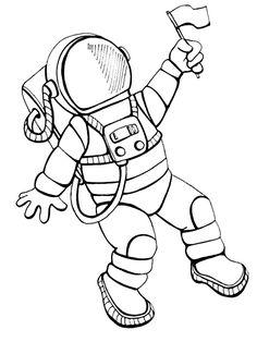 Desenhos interessantes de Astronautas para colorir para crianças Space Coloring Pages, Cat Coloring Page, Coloring Pages For Kids, Astronaut Craft, Astronaut Drawing, Space Party, Space Theme, Space Drawings, Easy Drawings