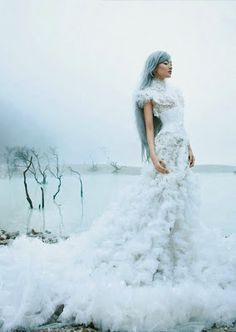 Snow Queen  - fairy tale fashion inspiration