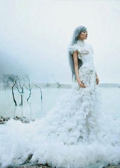 Snow Queen in a somputous wedding gown