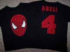 Birthday spiderman shirt
