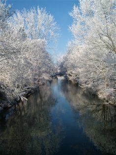 De Kromme Rijn is prachtig in de winter, en grenzend aan Kasteel Cammingha! #winterwedding #DeKrommeRijn #DeLandgoederij