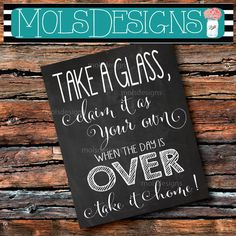 Custom Party Invitations, Digital Invitations, Wedding Favours Sign, Wedding Signs, Chalkboard Signs, Chalkboard Wedding, Chalkboards, Wine Glass Favors, Bridal Shower Wine