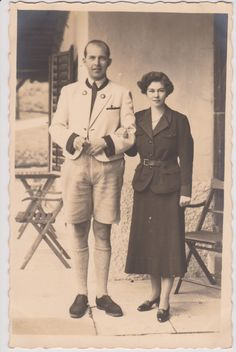 Princess Friederike of Hannover and Crown Prince Paul of Greece 1930s