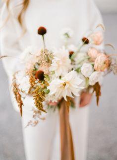 Organic wedding bouq