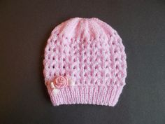Ravelry: Melika Baby Hat pattern by marianna mel. I would omit the bow. I am really enjoying making baby hats at the moment . I have written two versions for this design ~ one with a gart. Free knitting and crochet patterns. I am a popular independent des Baby Hat Knitting Patterns Free, Baby Cardigan Knitting Pattern, Baby Hat Patterns, Baby Hats Knitting, Crochet Baby Hats, Free Knitting, Knitted Hats, Crochet Patterns, Free Pattern