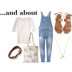overall outfit idea
