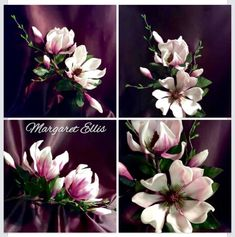 """Magnolias"" - Cake by Margaret Ellis"