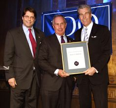 Mayor Michael Bloomberg was honored by The Hundred Year Association of New York at the non-profit's annual Gold Medal Award dinner. Clinton ...