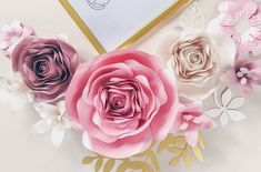 3d Paper Flowers, Paper Flower Wall, Paper Roses, Hanging Flowers, Flower Wall Decor, Wall Flowers, Girls Room Wall Decor, Nursery Wall Decor, Baby Shower Flowers