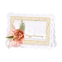 Scallop Façade Frame Etched Dies from Make a Scene Collection by Becca Feeken Happy Anniversary, Becca, Facade, Scene, Paper, Amazing, How To Make, Collection, Happy Brithday