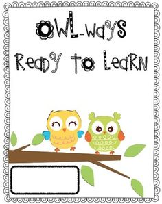 This is meant to be used as a cover for a student organization folder. This is comparable to the MOOSE notebook or other or other organizationa. Owl Theme Classroom, Classroom Design, School Classroom, Classroom Organization, Classroom Ideas, Owls Kindergarten, Owl School, School Ideas, Beginning Of School