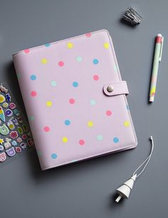 Add some cuteness to your everyday style with this Cute Polkadot Planner