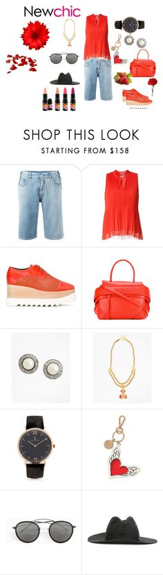"""New chic ..."" by jamuna-kaalla ❤ liked on Polyvore featuring MM6 Maison Margiela, 10 Crosby Derek Lam, STELLA McCARTNEY, Tod's, Brooks Brothers, Kapten & Son, Roger Vivier, Spektre, SuperDuper Hats and vintage"