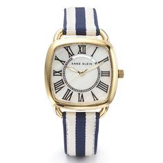 Anne Klein: Watches > Color > Striped Nautical Watch